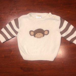 0-3 Months Gymboree Monkey Sweater